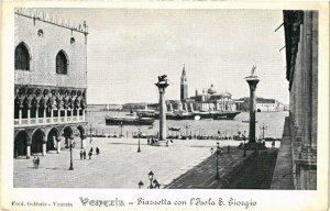 CPA AK VENEZIA Piazzetta con l'Isola S. Giorgio ITALY (522826)