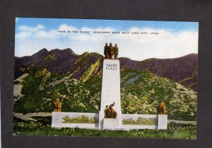 UT This is the Place Monument nr Salt Lake City Postcard Brigham Young Mormons