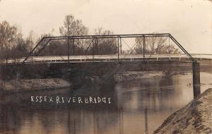 Essex Iowa~East Nishnabotna River~Through Truss Bridge~1910 Real Photo~RPPC