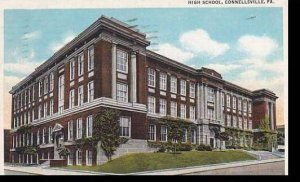 Pennsylvania Connellsville High School 1944 Curteich