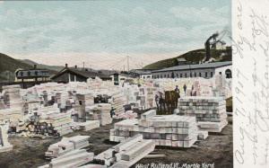 WEST RUTLAND, Vermont, PU-1907; Marble Yard