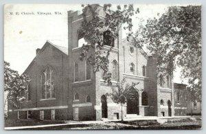 Viroqua Wisconsin~United Methodist Episcopal Church~Open Belltower~1925 B&W PC