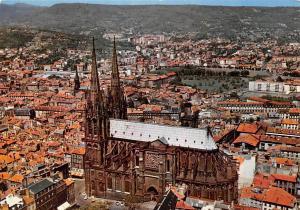 France Clermont Ferrand Vue aerienne La Cathedrale