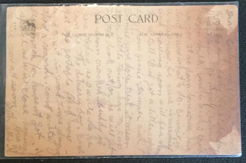 "Postcard Unused w/Writing on back ""To My Valentine"" Children CC LB"