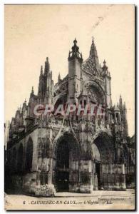 Caudebec en Caux Old Postcard L & # 39eglise