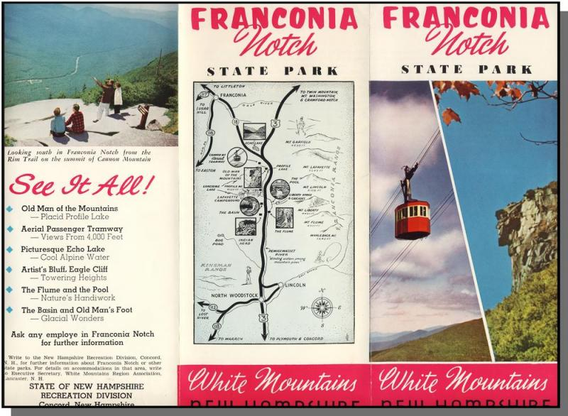 Franconia Notch State Park Brochure, New Hampshire/NH