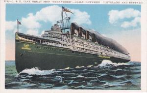 BUFFALO, New York, 1900-1910's; C. & B. Line Great Ship SeeandBee