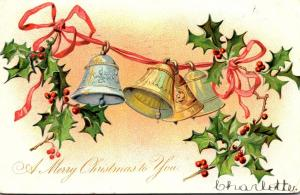 Tucks Merry Christmas To You With Bells 1906