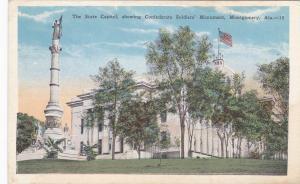 MONTGOMERY, Alabama, 1900-10s; State Capitol & CSA Monument