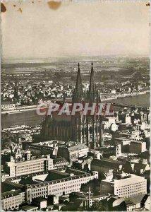 Postcard Modern Koln am Rhein Luftbildaufnahme