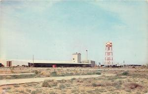 Deming New Mexico~Industrial Center~Checkerboard Water Tower~1966 Postcard