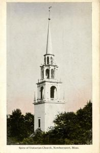 MA - Newburyport. Unitarian Church Spire