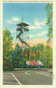 USA Pennsylvania Valley Forge Observation Tower and Dogwood Blossoms 04.29
