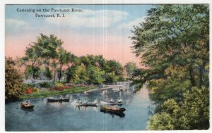 Pawtucket, R.I., Canoeing on the Pawtuxet River