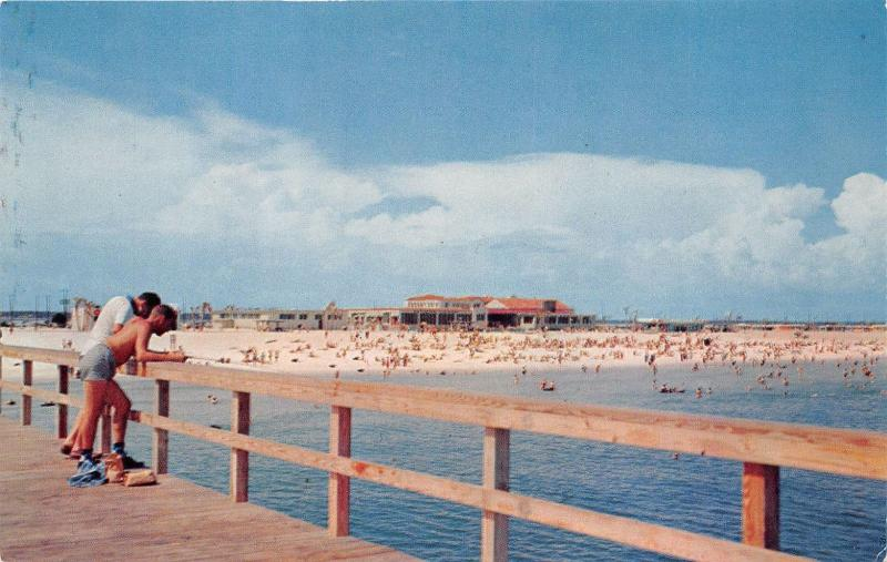 PENSACOLA FLORIDA AS SEEN FROM THE NEW FISHING PIER POSTCARD c1950s