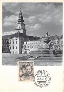 B22838 La Place de Kromeritz avec le chateau  czech republic