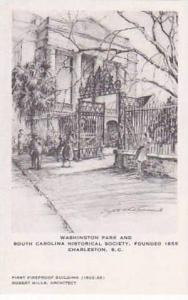 South Carolina Charleston Washington Park and Historical Society Founded 1855...