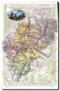 Old Postcard geographical maps of Chocolaterie & # 39Aiguebelle Charente