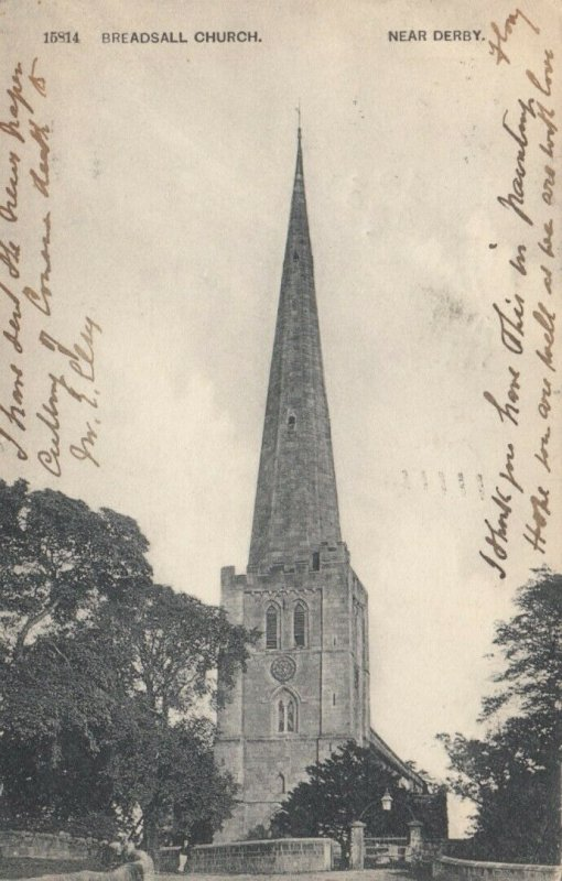 BREADSALL, Derbyshire, England,  UK, 1904; Breadsall Church