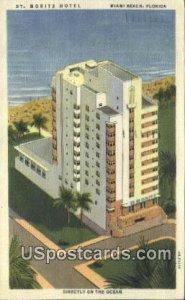 St Moritz Hotel - Miami Beach, Florida FL Postcard