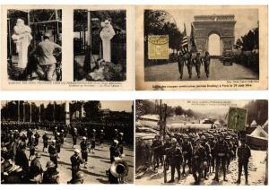 MILITAIRE  MILITARY GUERRE AMERICAN ARMY IN FRANCE WWI 71 CPA