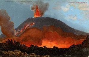 Italy -  Naples. Mt Vesuvio Eruption.