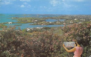 Gibbs Hill Lighthouse, Overlooking Hamilton Harbour Bermuda Postal used unknown