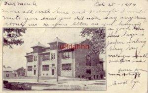 pre-1907 NEW HIGH SCHOOL HILLSDALE, MI 1906