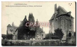 Old Postcard Bannegon Entree and main body of castle buildings