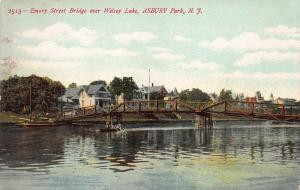 Emory Street Bridge, Asbury Park, New Jersey, Early Postcard, Unused