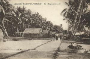 salomon islands, Native Village (1920s) Mission