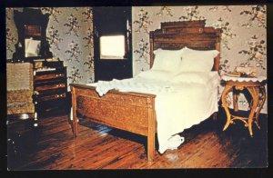 Jackson, Tennessee/TN Postcard, Bedroom, Casey Jones Railroad/RR Museum