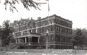Atlantic Iowa~Elks Club Building~Flag Pole~1940s Real Photo Postcard