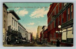 St Paul MN-Minnesota, 6th Street East From Wabasha Street Vintage c1913 Postcard