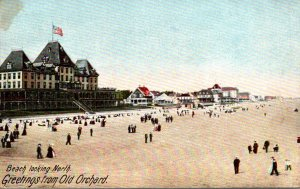 Maine Old Orchard Greetings With Beach Looking North