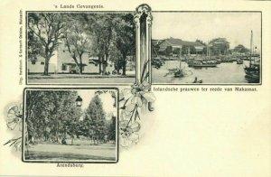 indonesia, CELEBES SULAWESI MAKASSAR, Jail Prison, Arendsburg (1899) Postcard