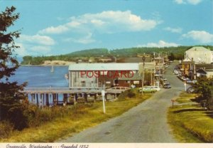Continental-size COUPEVILLE, WASHINGTON view along FRONT STREET to PENN COVE