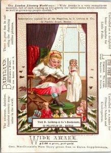 RARE - Trade Card - Magazines Wide Awake and Babyland, Lathrop & Co., Boston