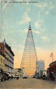San Jose California c1910 Postcard Electric Tower