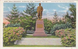 Mark Twain Monument Riverview Park Hannibal Missouri