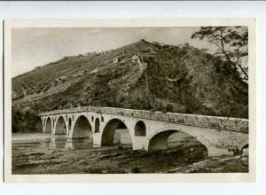 263092 ALBANIA BERAT bridge & fortress old Albturist postcard