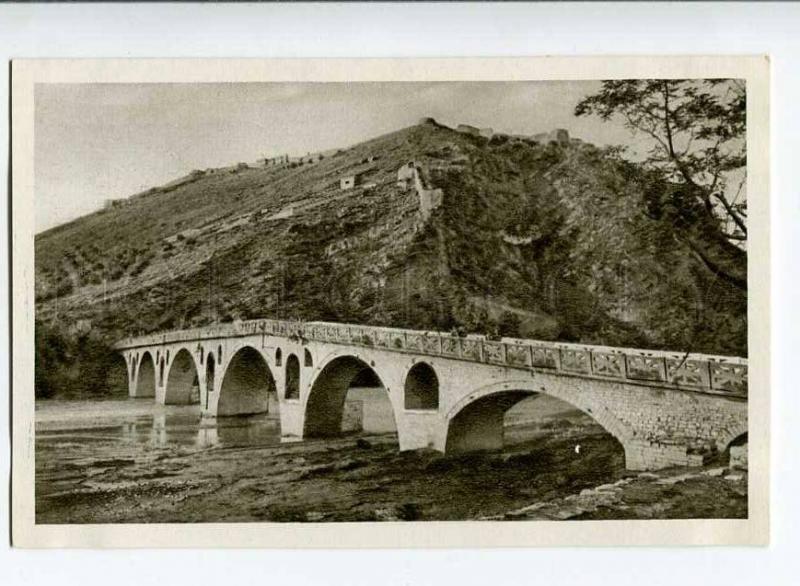 263092 ALBANIA BERAT bridge & fortress old Albturist postcard