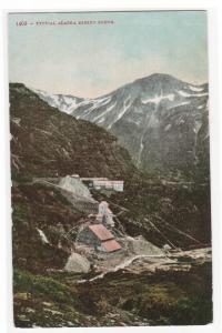 Alaska Mining Scene 1910c postcard
