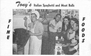 Joplin Missouri Tony's Italian Spaghetti Restaurant roadside Postcard 20-3010