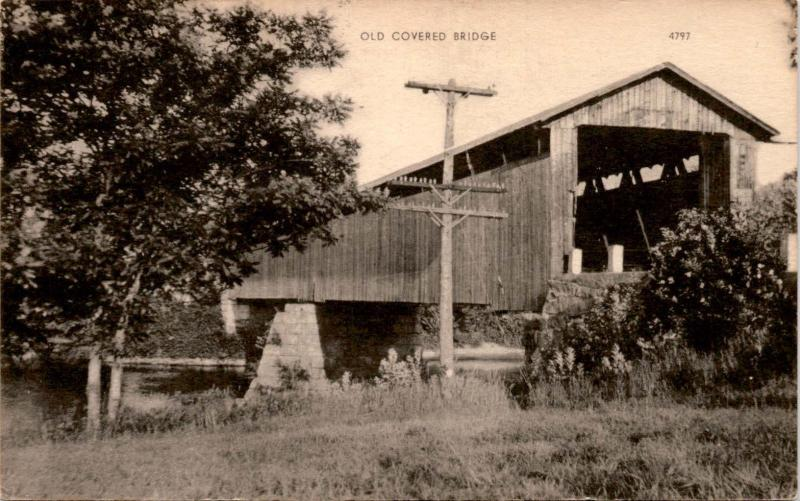 Photo Postcard, Old Covered Bridge Photolux Postcard F23