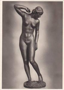 RP, Nude Woman Sculpture, Hanns Anker- German Sculptor: Der Morgen, Germany...