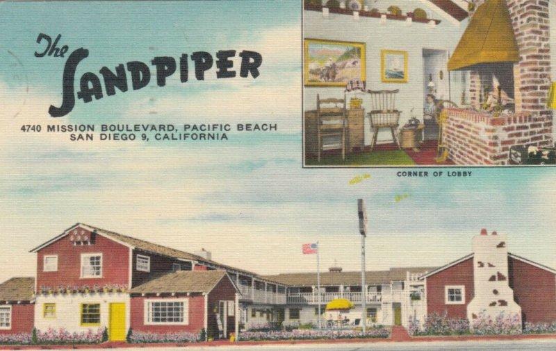 SAN DIEGO , California  , 1952 ; The Sand Piper Motor Hotel