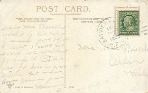 R. P. O. Cancel 1905 Bayview & Grand Rapids. Railway Post Office Cancel Cover