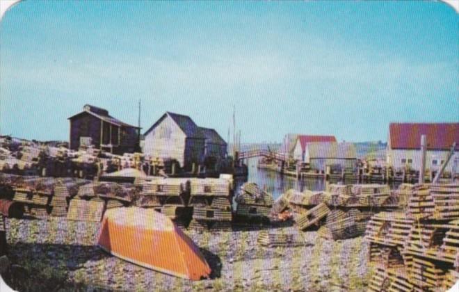 Canada Sandford Fishing Village Yarmouth County Nova Scotia