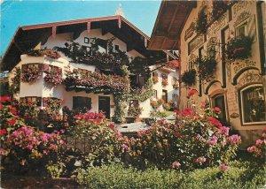 Germany Postcard Blumenwinkel Markt Neubeuern Bavarian Inn Valley